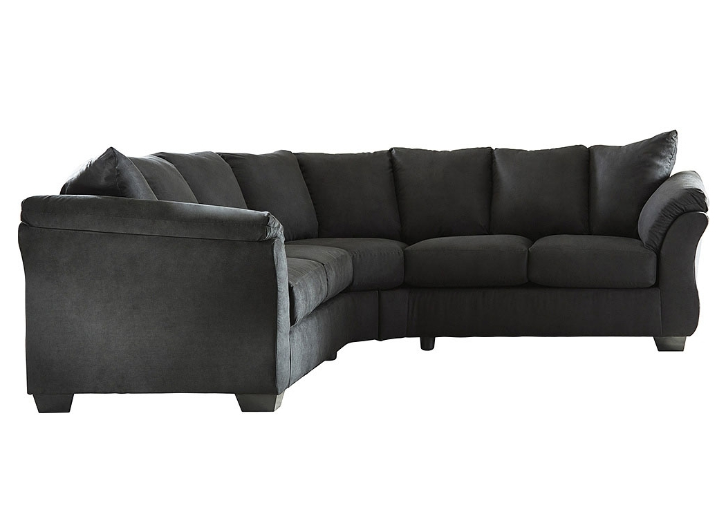 Current Ivan Smith Darcy Black Loveseat Sectional Intended For Ivan Smith Sectional Sofas (View 2 of 10)