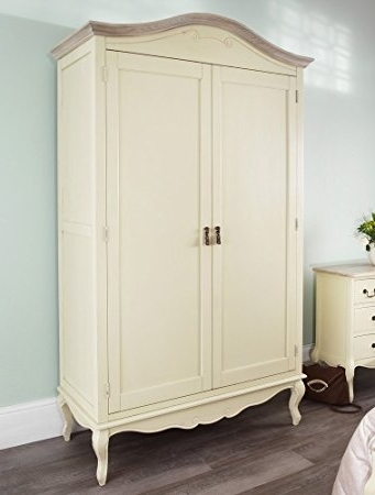 Current Juliette Shabby Chic Champagne Double Wardrobe, Stunning Large Inside Large Shabby Chic Wardrobes (View 5 of 15)