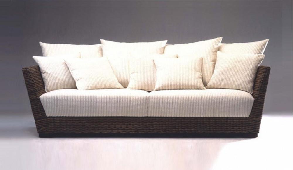 Current Modern 3 Seater Sofas With Regard To Prado Conservatory 3 Seater Sofa – Designer Rattan Style – Modern (View 10 of 10)