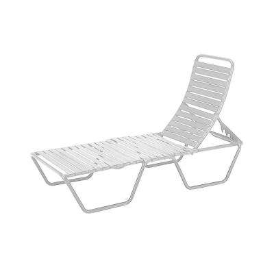 Current Outdoor Folding Chaise Lounges Pertaining To White – Stackable – Aluminum – Outdoor Chaise Lounges – Patio (View 4 of 15)