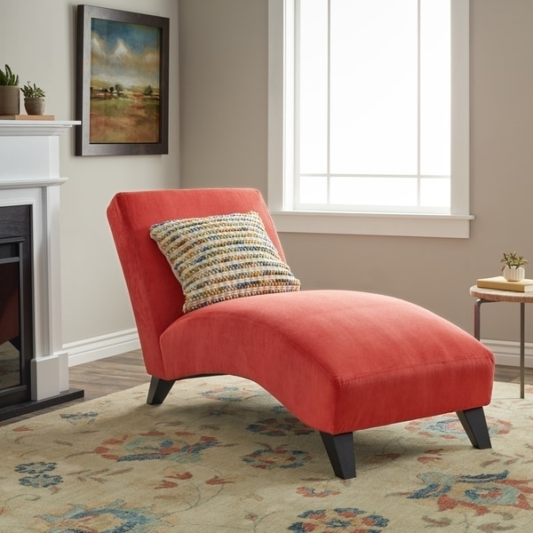 Current Overstock Chaise Lounges In Clay Alder Home Bella Orange Paprika Chaise Lounge – Free Shipping (View 7 of 15)