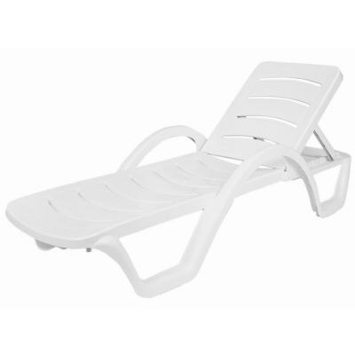 Current Plastic Chaise Lounges Intended For Havana Sunrise Resin Chaise Lounge Isp078 Whi (View 5 of 15)