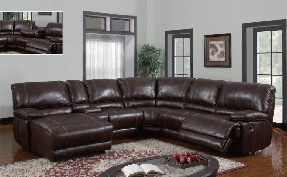 Current Popular Power Reclining Sectional Sofa With Chaise Brilliant Ideas Inside Sectional Sofas With Recliners Leather (View 3 of 10)