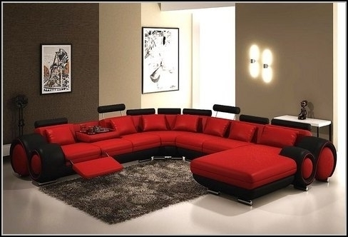Current Red Leather Sectional Sofas With Recliners Inside Wonderful Sectional Sleeper Sofa With Recliners Leather Sectional (View 2 of 10)
