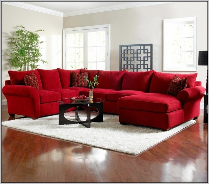 Current Red Leather Sectional Sofas With Recliners Intended For Couch Marvellous Red Sectional Couches Full Hd Wallpaper Pictures (View 3 of 10)