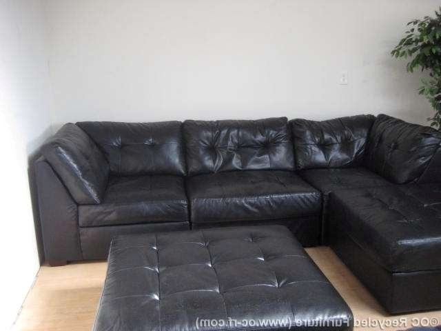 Current Soft Leather Couches Faux Leather Couch Gorgeous Leather Sectional Throughout Black Leather Sectionals With Ottoman (View 7 of 10)