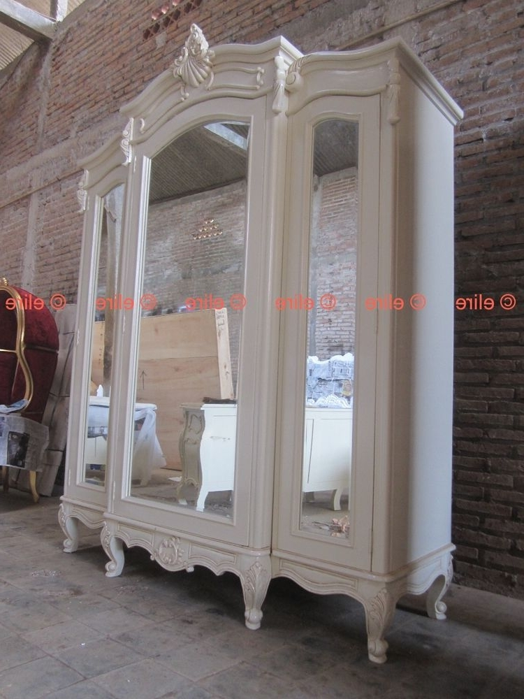 Current Victorian Wardrobes For Sale With Regard To Bespoke Large Armoire Wardrobe With Mirrors Rococo Solid Mahogany (View 2 of 15)