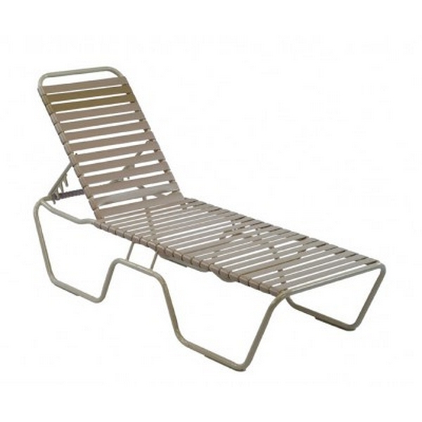 Current Vinyl Outdoor Chaise Lounge Chairs Pertaining To Vinyl Strap Chaise Lounge Aluminum Frame St (View 8 of 15)