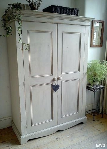 Current Wardrobes ~ If3654 Antique French Painted Armoire Wardrobe Painted With Vintage Style Wardrobes (View 9 of 15)