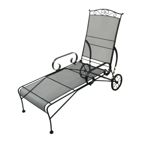 Current Wrought Iron Chaise Lounges Within Furniture Wrought Iron Chaise Lounge Best Of Verano For Chairs (View 2 of 15)