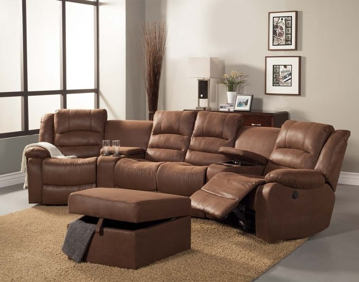 Curved Recliner Sofas With Famous Sofa Beds Design: Breathtaking Ancient Curved Sectional Sofa With (View 5 of 10)