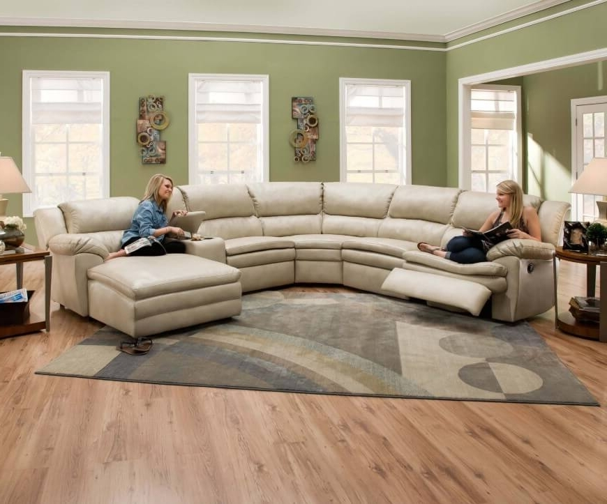 Curved Sectional Sofas With Recliner With Well Known Sofa Beds Design: Breathtaking Ancient Curved Sectional Sofa With (View 4 of 10)