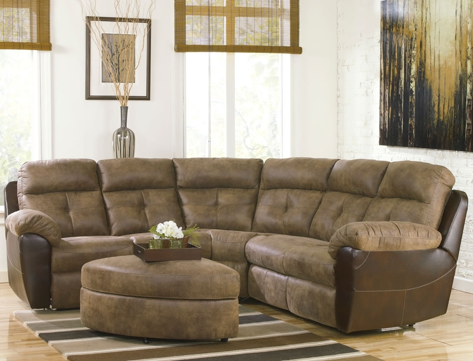 Curved Sectional Sofas With Recliner Within Fashionable Sofa : Impressive Small Sectional Sofa With Recliner Appealing (View 5 of 10)