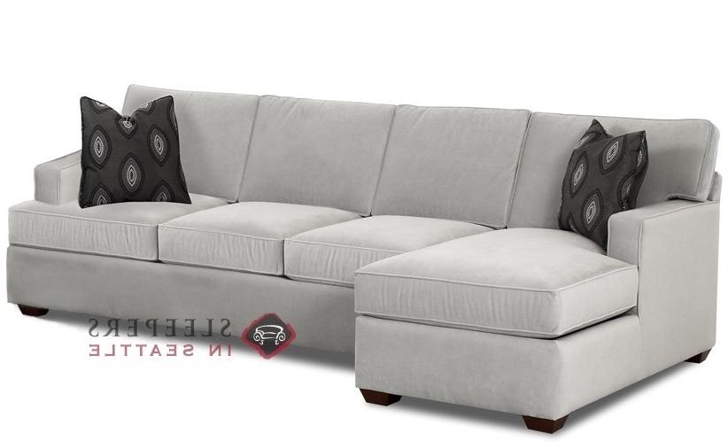 Customize And Personalize Lincoln Chaise Sectional Fabric Sofa With Well Known Chaise Sleeper Sofas (View 7 of 15)