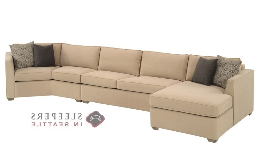 Customize And Personalize Strata Chaise Sectional Fabric Sofa Throughout Newest Sleeper Sofa Chaises (View 4 of 15)