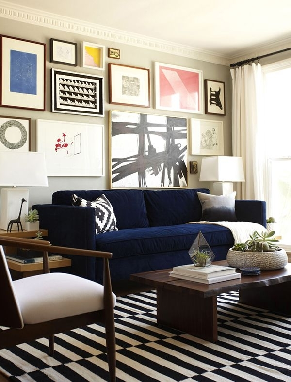 Dark Blue Sofas With Regard To Latest Living Room : Navy Couch Blue Sofas Sofa Living Room Sectional (View 4 of 10)