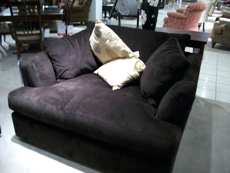 Dark Brown Chaise Lounge Furniture Big Comfy Oversized Black For Well Liked Microfiber Chaises (View 2 of 15)