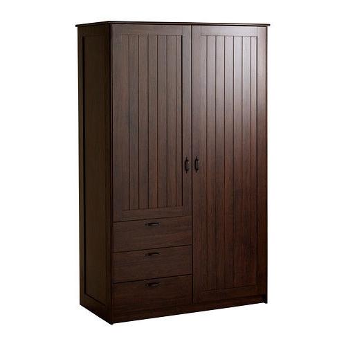 Dark Brown Wardrobes In 2018 Brand New Ikea Musken Dark Brown Wardrobe With Original (View 3 of 15)