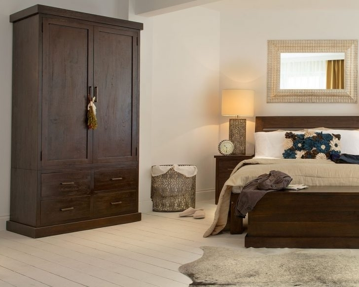 Dark Wood Wardrobes With Drawers Within Well Known Lovely Dark Wardrobes – Badotcom (Gallery 12 of 15)