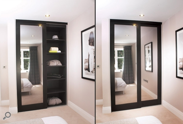 Dark Wood Wardrobes With Sliding Doors With Regard To 2017 Mirror Design Ideas: Finest Materials Mirror Wardrobes Sliding (View 6 of 15)