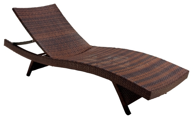 Deck Chaise Lounge Chairs Pertaining To Famous Garden : Contemporary Outdoor Chaise Lounges Lounge Chairs Garden (View 4 of 15)