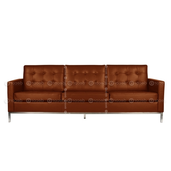 Decor8 Modern Furniture Florence Leather 3 Seat Sofa, Three Seater Throughout Widely Used Florence Leather Sofas (View 2 of 10)