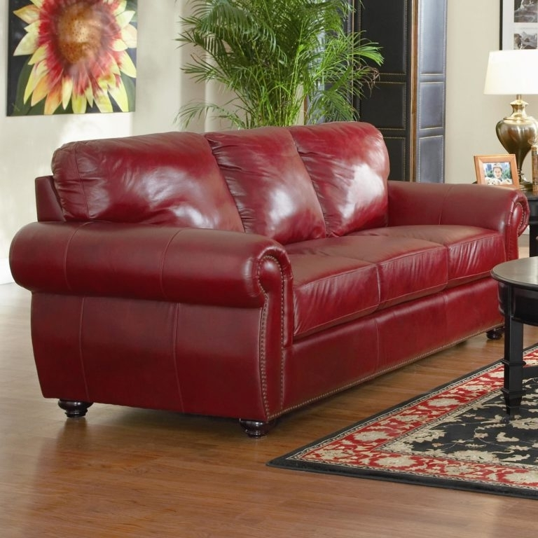 Decorating Burgundy Leather Sofa – Loccie Better Homes Gardens Ideas Within Well Known Red Leather Couches And Loveseats (Gallery 1 of 10)