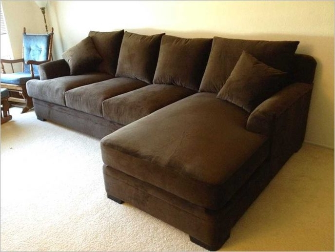 Deep Sectional Sofas With Chaise Intended For Most Popular 48 In Deep Couches Overstuffed Sectional Sofa With Chaise Extra (View 4 of 15)