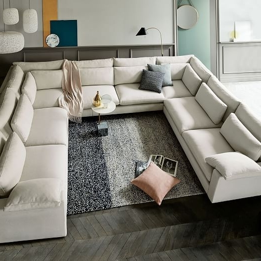 Deep U Shaped Sectionals Inside Fashionable Harmony Down Filled U Shaped Sectional (Gallery 2 of 10)