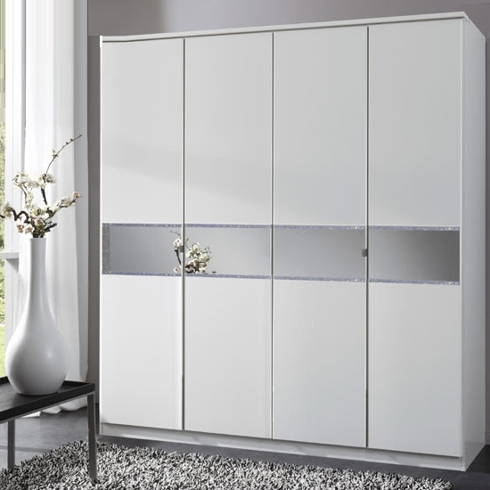 Featured Photo of 4 Door White Wardrobes