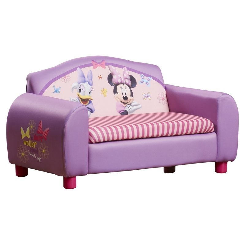 Disney Sofa Chairs With Current Delta Children Disney Minnie Mouse Kids Sofa With Storage (View 7 of 10)