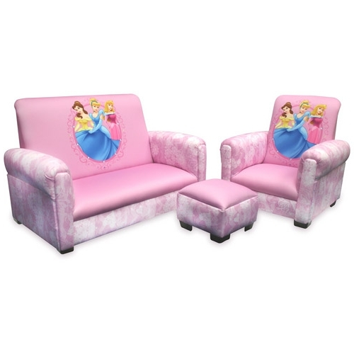 Disney Sofa Chairs With Regard To Latest Disney – Princess Hearts And Crowns Toddler Sofa, Chair And (Gallery 8 of 10)