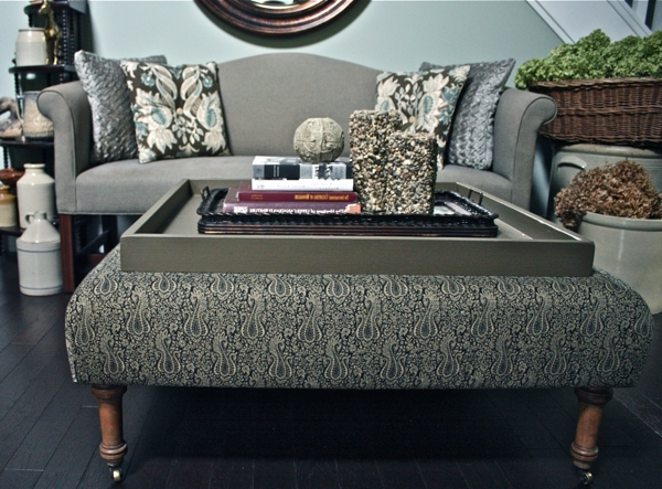 Diy Ottoman, Ottomans And Square Ottoman Throughout Fashionable Ottomans With Tray (Gallery 6 of 10)