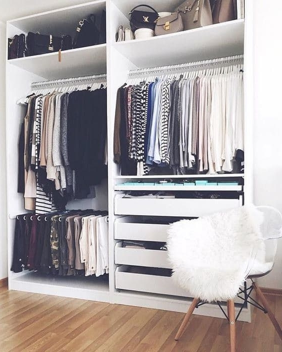 Double Black Covered Tidy Rail Wardrobes With Regard To Popular 5 Ideas To Make The Most Of Your Closet (Gallery 4 of 15)