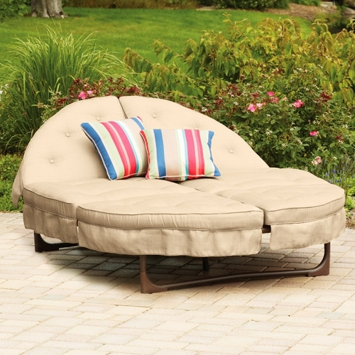 Double Chaise Lounge Outdoor Chairs With Regard To Favorite Patio Double Chaise Lounge Incredible Gorgeous Outdoor Lounger (View 6 of 15)