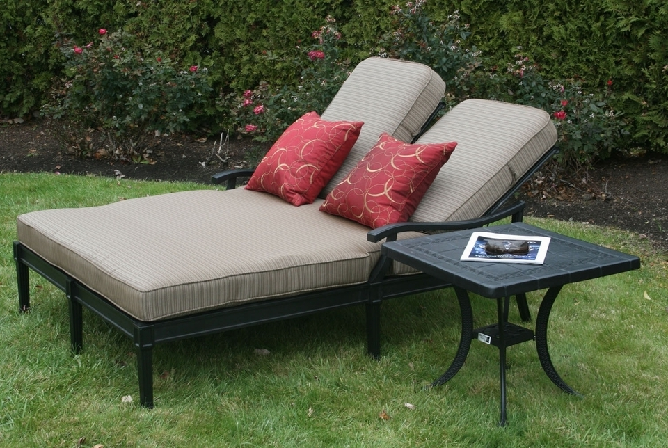 Double Chaise Lounges For Outdoor Intended For Latest Innovative Double Outdoor Lounge Chair Build Outdoor Double Chaise (View 6 of 15)