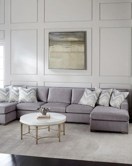 Double Chaise Sectionals In Most Current Massoud Raphael Double Chaise Sectional (Gallery 14 of 15)