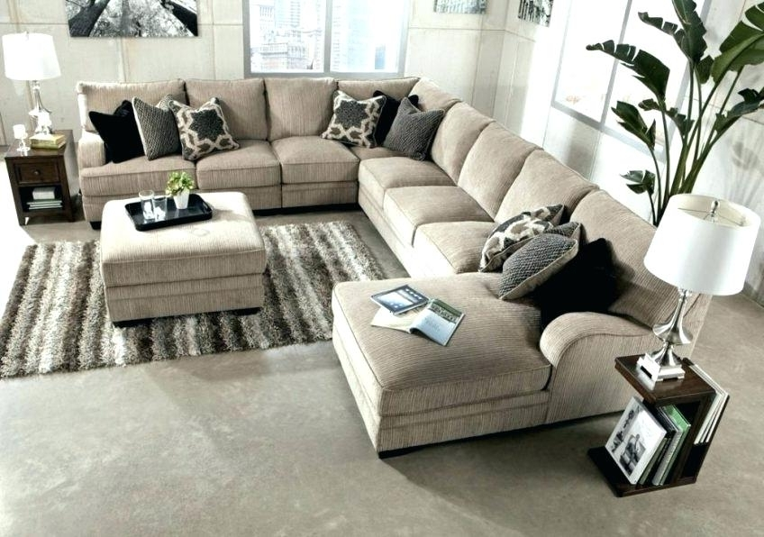 Double Chaise Sectionals Regarding Latest Sectional Sofa With Double Chaise Piece Beige Leather Sectionals (Gallery 6 of 15)