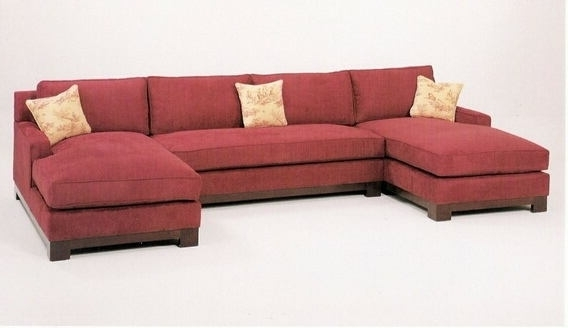 Double Chaise Sofas In Preferred C & L Designs Cl 1059 Sectionalc 3 Pc Custom Sectional Sofa With (Gallery 15 of 15)