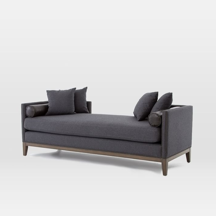 Double Chaises With Regard To Most Up To Date Nailhead Double Chaise (View 12 of 15)
