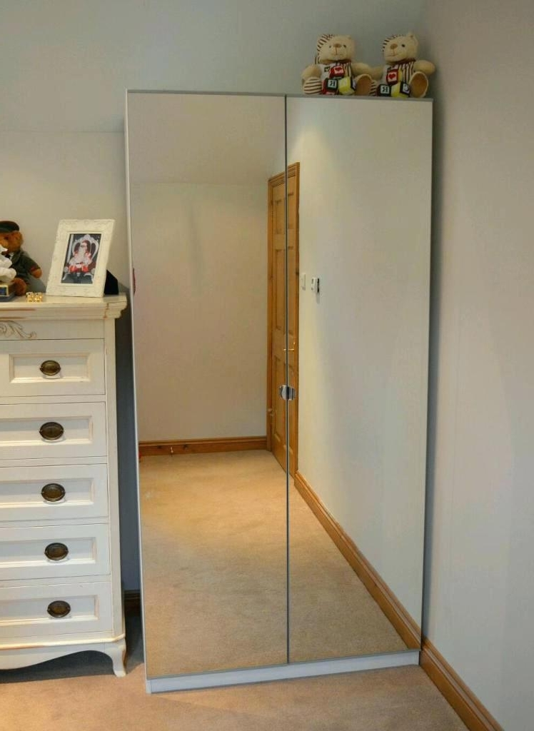 Double Mirrored Wardrobes Intended For Most Popular Wardrobes ~ Wardrobe Mirror Sliding Doors Ikea Ikea Wardrobe (View 4 of 15)