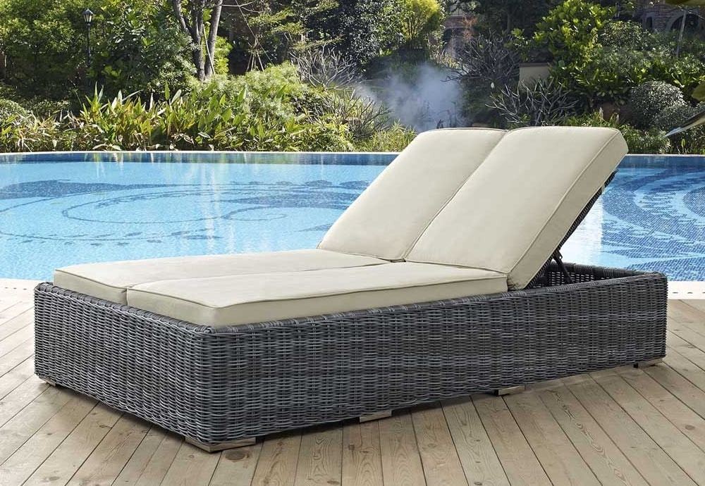 Double Outdoor Chaise Lounges Intended For Well Liked Chaise Lounge Chairs Outdoordesign : Into The Glass – Popular (View 12 of 15)