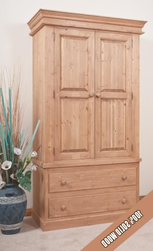Double Pine Wardrobes For 2018 Pine Wardrobes (View 4 of 15)