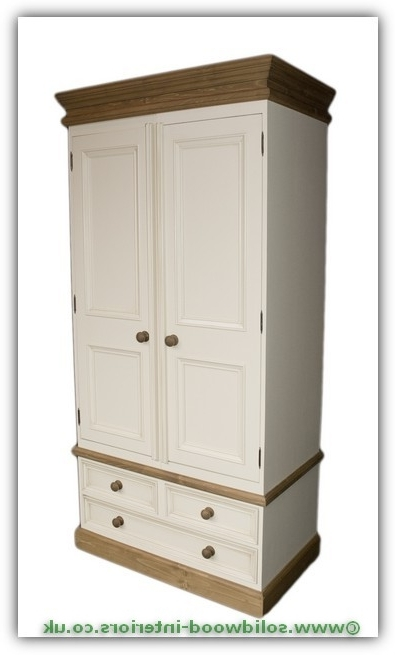 Double Pine Wardrobes With Well Known Solid Wood Interiors > Solid Pine Double Wardrobe With 3 Drawers (View 8 of 15)