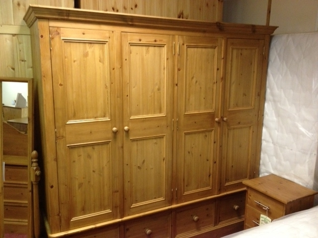 Double Pine Wardrobes Within Preferred Wardrobes / Top Boxes : Cleveland Pine & Oak, Quality Hand Crafted (View 9 of 15)