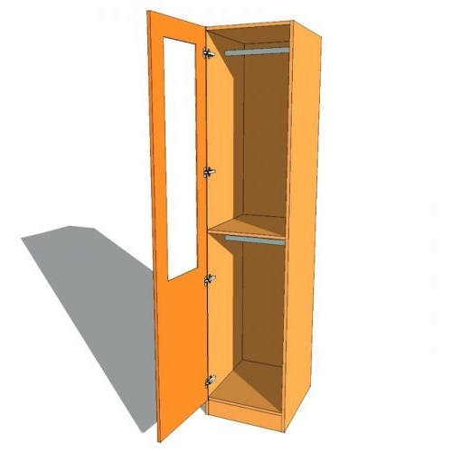 Double Rail Single Wardrobes Intended For 2018 Wardrobes: Double Hanging Wardrobe. Double Hanging Wardrobe (Gallery 7 of 15)