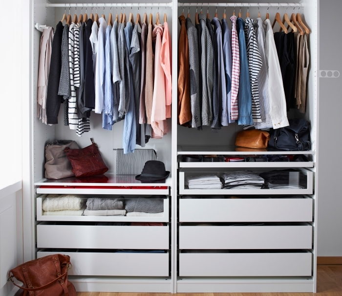 Featured Photo of Double Rail Wardrobes Ikea