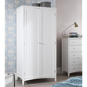 Double Rail White Wardrobes With Best And Newest Edward Hopper Large White Double Wardrobe, Quality 2 Door Wardrobe (Gallery 7 of 15)