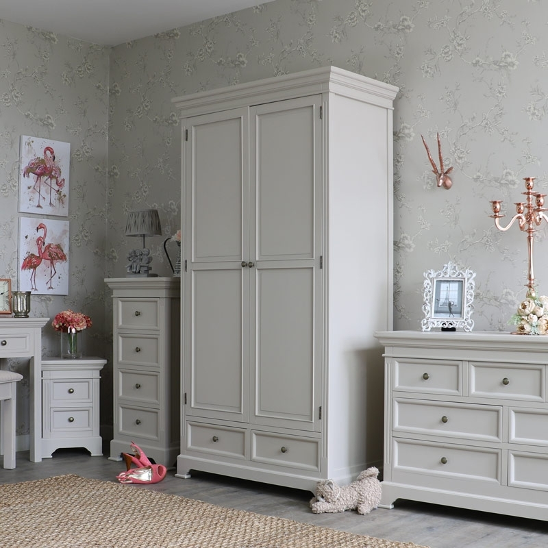 Double Wardrobes Inside Preferred Grey Double Wardrobe – Daventry Range – Melody Maison® (View 7 of 15)