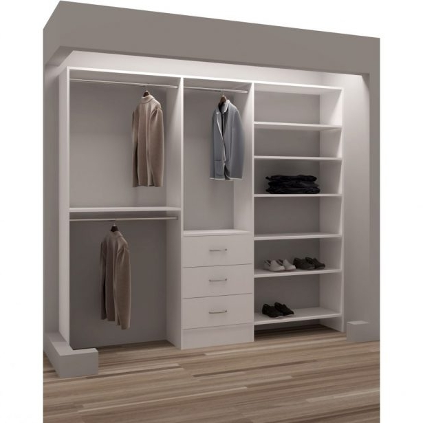 Double Wardrobes With Drawers And Shelves Inside Recent Closet Shelving Ideas White Organizer With Drawers Home Depot (View 7 of 15)